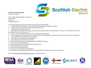 Electrical Contracts Engineer
